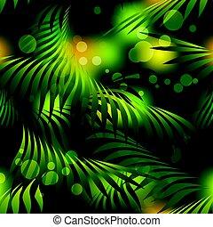 Jungle Rain Forest Seamless Pattern
