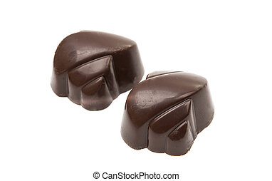chocolate candy on a white background