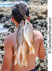 Sea Gypsies and andaman fish