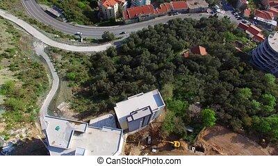 Settlement Rafailovici, Budva Riviera, Montenegro. The coast...