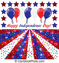 Happy Independence day background with balloons