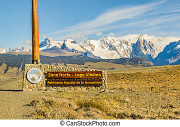 El Chalten, Patagonia, Argentina - Signpost wich translate...