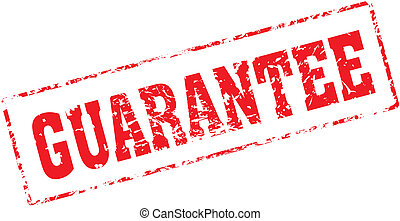 guarantee - Grungy ink stamp, vector format very easy to...