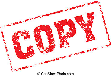 copy - Grungy ink stamp, vector format very easy to edit