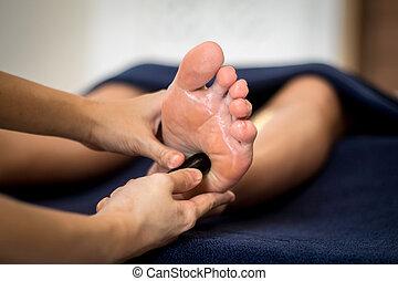 Thai reflexology foot massage
