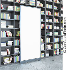 Library with poster side