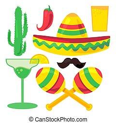 Cinco De Mayo Festival Set from chili, confetti, cactus,...