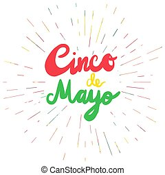 Cinco De Mayo Lettering. Mexican Festival Banner. Vector