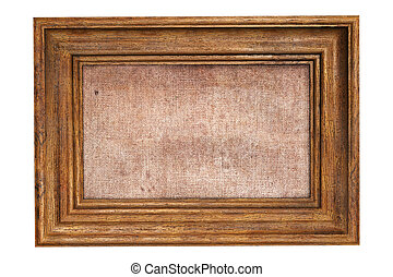 art wooden picture frame. Isolated on white. 3D illustration