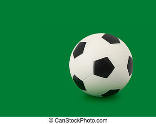 Soccer ball on green - Soccer ball, isolated on green...
