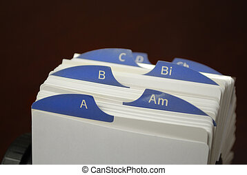 Index Cards for Business Communications for Clients