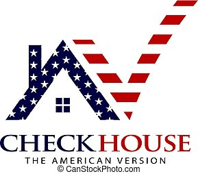 American House Residential Checked Logo Graphic