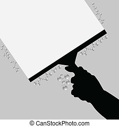 cleaning hand black vector