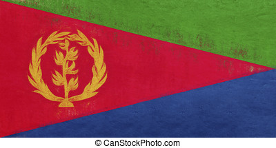 Flag of Eritrea Grunge. - Illustration of the national flag...
