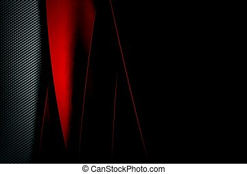 Abstract background dark with carbon fiber texture vector...
