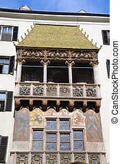 "Golden roof - Famous ""golden roof"" or ""goldenes dachl"" in..."