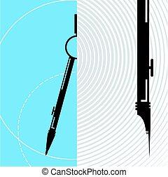 compass circles drawing