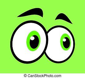green eyes - creative design of green eyes
