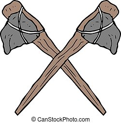 Prehistoric ax symbol - creative design of prehistoric ax...