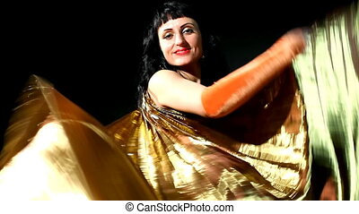 Arabic dancer with gold wing