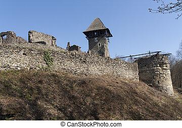 Ruins of Castle Nevytske near of Transcarpathian region...