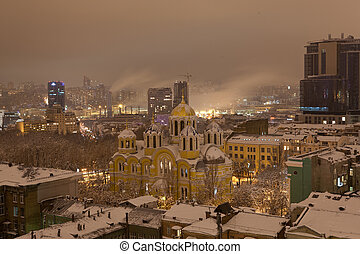 landscape of night Kyiv