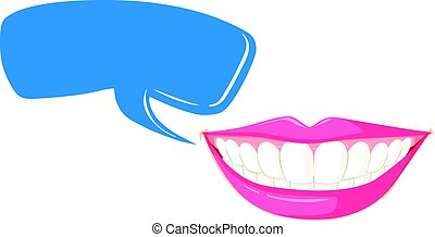 Clean teeth and speech bubble template