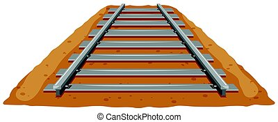 Train track on the ground illustration