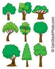 Different shapes of tree