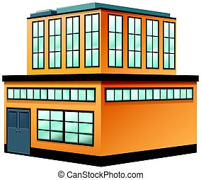 Two storey building painted in yellow