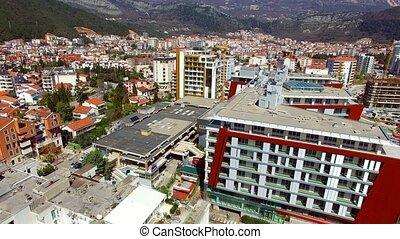 Budva, Montenegro, New Town, aerial - Budva, Montenegro New...