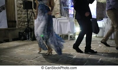 Wedding party. People are dancing at wedding banquet. -...