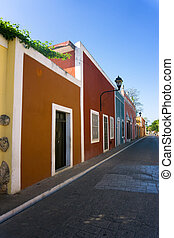 Colorful Colonial Street