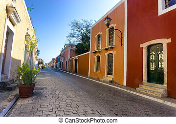 Colorful Street in Valladolid