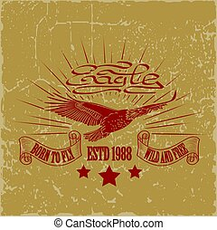 t-shirt graphics - Eagle logo for t-shirt, Hawk mascot Sport...