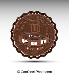 A design of beer mat - The pattern of vector illustration of...