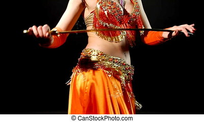Arabic dancer with sabre - shake hip