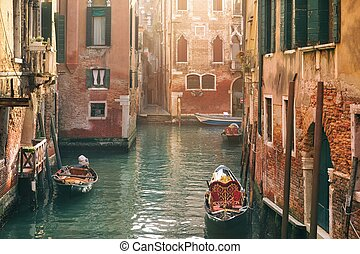 Morning Venezia - Morning beauty atmosphere of one of canal...