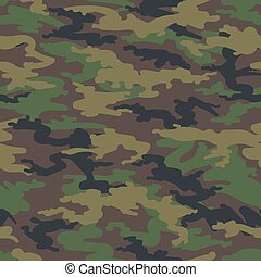 Woodland hunting camoflauge seamless pattern - Military army...