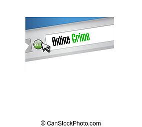online crime browser sign concept