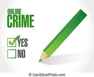 online crime concept sign illustration design
