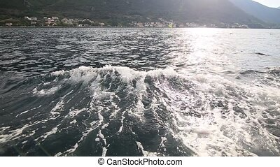 Boat trip in the Bay of Kotor, Montenegro