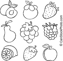 Doodle of fruit design hand draw