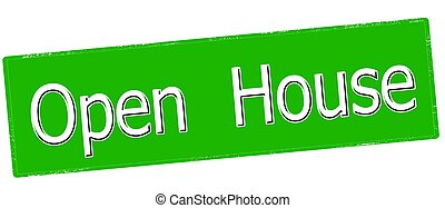 Open house - Stamp with text open house inside, vector...