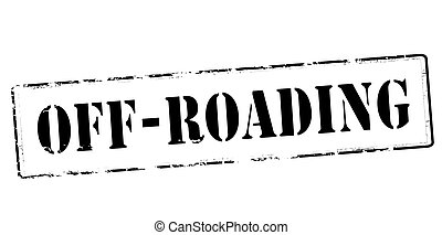 Off roading - Stamp with text off roading inside, vector...
