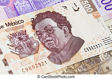 New Mexican 500 bill Diego Rivera - New mexican 500 peso...