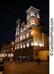 Murcia - Santo Domingo Saint Dominic church in the night