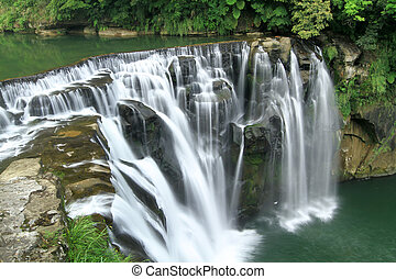 the shifen waterfall in pingxi, Taipei, Taiwan - waterfall...