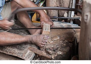 carpenter man made of wood job