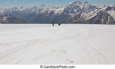 2014 07 Mount Elbrus, Russia: Climbing to the top of Elbrus...